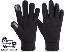 Damen Herren Winter Handschuhe warm Thermo Fleece Black Touchscreen Fahrrad Neu