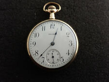 American Eagle And Flag Case Vintage 16 Size Waltham Pocket Watch
