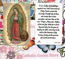 Our Lady of Guadalupe with Prayer - Plastic stock Holy Card