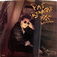 "PAT BENATAR ""Sex as a Weapon"" (45 RPM) 7"" Vinyl Record w/ picture sleeve MINT"