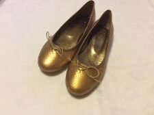 Ladies Ballerina Shoes In Gold Size 5/38 By Lexx Moda New Boxed