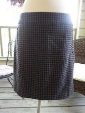 NWT BANANA REPUBLIC Navy Burgundy Brown Plaid Wool Skirt Size 8 SHIPS FREE!!