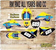 Suzuki RM 85 125 kit de gráficos H. 250 450 KIT SUZUKI RM H. calcomanías pegatina