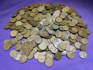 Lot of 500 Mixed Thirties Dates 1930 - 1939 Lincoln Wheat Cents Pennies!! Lot 4