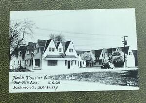 Vintage Neal's tourist court and Café Richmond Kentucky  KY Postcard