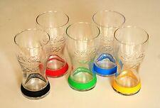 Verres   COCA COLA  aux couleurs  des  anneaux  olympiques       5  verres