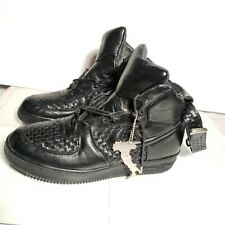 Nike Air Force 1 High Lux Sz 10.5 Italian Leather Black Rare!!  624056 001