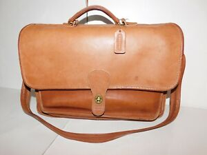 Coach Brown Leather Classic Laptop Messenger Bag