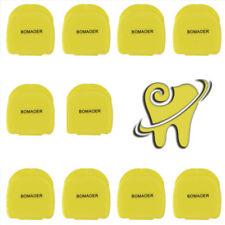 10pcs Denture Storage Box Dental False Teeth Case Container yellow color