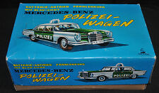 "Mercedes Benz Polizei Wagon 6"" Batt Op Remote Control Mint in Box (1960s) ITB WH"