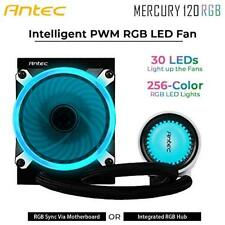 Antec Mercury 120 AIO Cooler 120mm RGB Fan Graphite Bearings Copper Heatsink