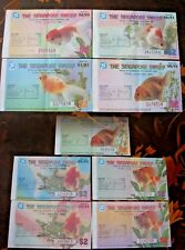 Singapore Sweep 1993, 9 Lottery Tickets, Mixed Numbers, EF