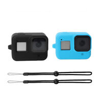 For Gopro Hero 8 Sport Camera Colored Soft Silicone Case Cover With Rope