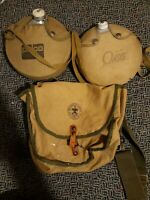 1960s BOY SCOUTS OF AMERICA BACKPACK NATIONAL COUNCIL NEW YORK CITY + 2 CANTEENS