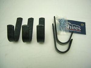 Trensenhalter Haken für die Wand schwarz lackiert 5 Stück schwarz von Shires