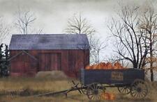 "Billy Jacobs"" Pumpkin Wagon"" Farm Barn Print 18 x 12"