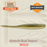 Keitech Shad Impact Worm Bait Mold Mould Fishing Soft Plastic Lure 50-100 mm