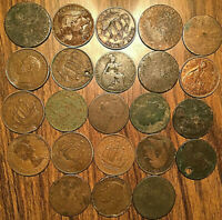 LOT OF 23 MOSTLY GREAT BRITAIN HALF PENNY LOT OF 23 COINS