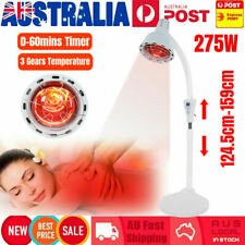 275w Floor Stand Infrared Therapy Lamp Temperature Physiotherapy Pain Relief AU