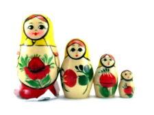 Nesting Dolls Russian Matryoshka Traditional Babushka Stacking Wooden set 4 pcs