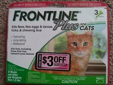 GENUINE FRONTLINE PLUS for CATS - NEW 3 PACK