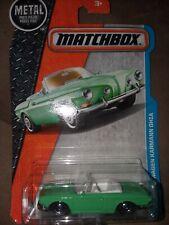 New Matchbox Car Convertible Volkswagen Karmann Ghia 29/125 Green Diecast MINT
