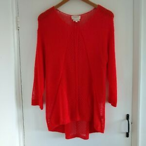 Next Red Knitted Hippy Boho Jumper Size UK 16