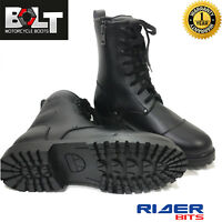 CLEARANCE BOLT R50 MOTORBIKE BOOTS POLICE BOOTS COMBAT MILITARY SHOES WATERPROOF