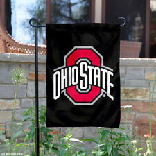 Ohio State Buckeyes Black Garden Flag and Yard Banner