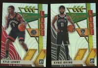2019/20 Panini Optic KYRIE IRVING KYLE LOWRY SILVER HOLO Prizm Refractor Insert