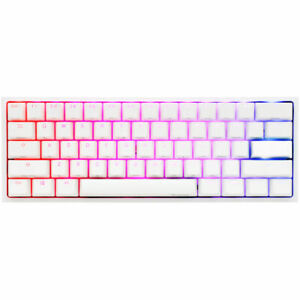 Ducky One 2 Mini White RGB Mechanical Keyboard Kailh BOX Brown