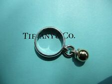 100% Genuine Tiffany & Co dangle ring - sterling silver and 18k gold