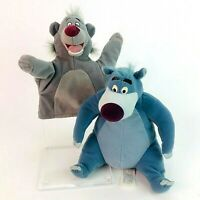 Disney The Jungle Book Baloo Bear Vintage 1989 Hand Puppet & Mattel Plush Toy