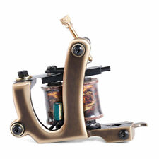 Brass Tattoo Machine Gun Handmade 12 Wraps Pure Copper Coils for Shader M201-2