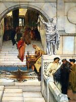 LAWRENCE ALMA TADEMA AUDIENCE WITH AGRIPPA OLD ART PAINTING PRINT 1833OMA