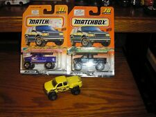 Nice Lot of 3 Matchbox 1999 Chevy 4x4 Step Side Monster Trucks Free Shipping