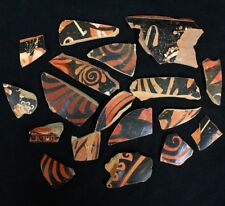 Beautiful Ancient Greek Pottery Shards 350 - 250 Bc. 18 Pieces - Exact Lot gr261