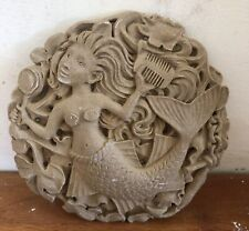 Latex Mould for making this Lovely Mermaid Plaque .