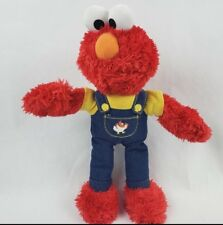 "Fisher Price Elmo 11"" Plush Yellow Shirt Overalls Sesame Street Muppet Doll"
