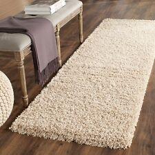 Plush Beige Color 2'3 x 15 Ft Size Fluffy Thick Shag Carpet Hallway Runner Rug