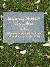 Engraved Dark Grey Granite Memorial Plaque Flat Grave Stone Marker Headstone