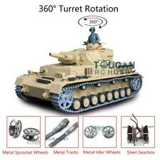 Henglong 3858 Upgraded Panzer Iv F Rtr 1/16 Scale 6.0 Rc Tank W/ 360° Turret