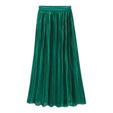 Pretty Women Velvet Long Maxi Loose High Waist Pleated Boho Beach Skirt Dress