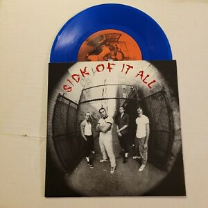 """SICK OF IT ALL 7"""" BLUE VINYL NYHC AGNOSTIC FRONT KILLING TIME STRAIGHT AHEAD"""
