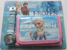 Disney Elsa, Anna Orologio Al Quarzo Principesse Frozen e Portafoglio Set per Ragazze