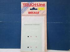 TRUCK LINE DECALS H0 3019 Aufkleber Drehgestell-Rolldachwagen mit Telesk. B8550