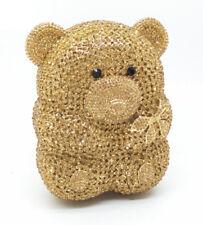 Anthony David Gold Teddy Bear Crystal Evening Bag