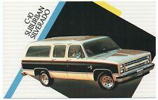 1986 Chevrolet C-10 SUBURBAN SILVERADO Dealer Promotional Postcard UNUSED VG+.1