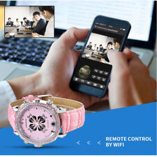 1080P 8GB Mini DVR Wifi Smart Watch Hidden Spy Camera Night Vision Lady Security