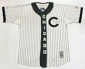 Vintage Starter Cooperstown Chicago Cubs MLB Baseball Jersey M White Pinstripe